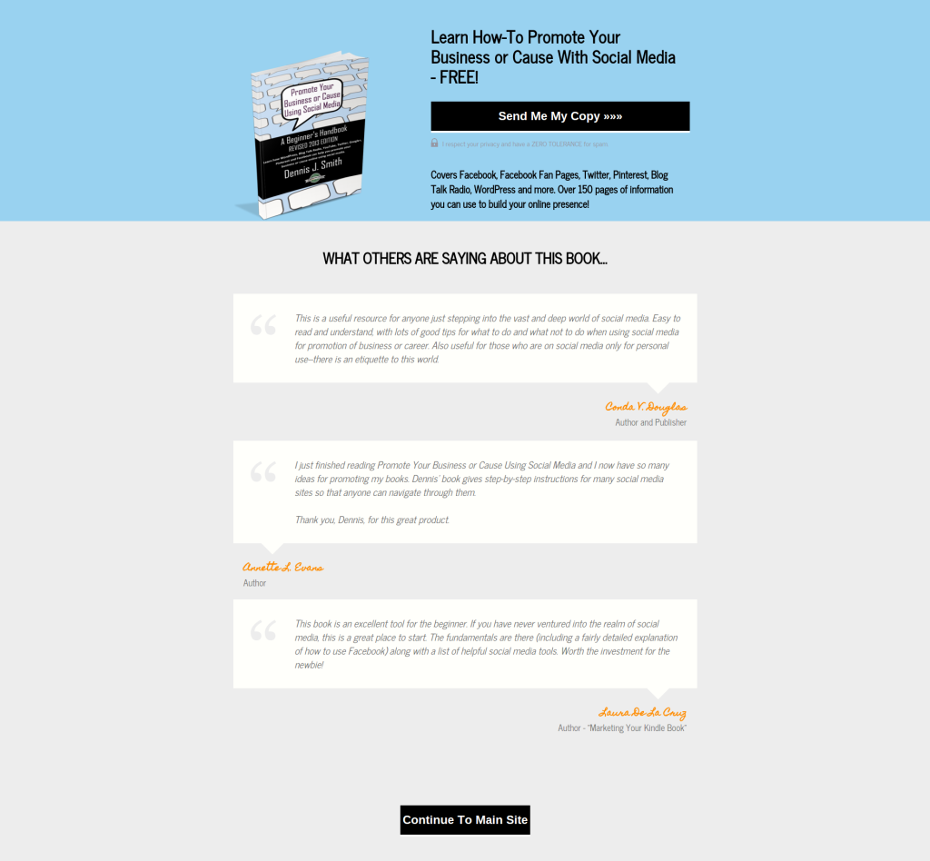 LeadPages - Book Promotion