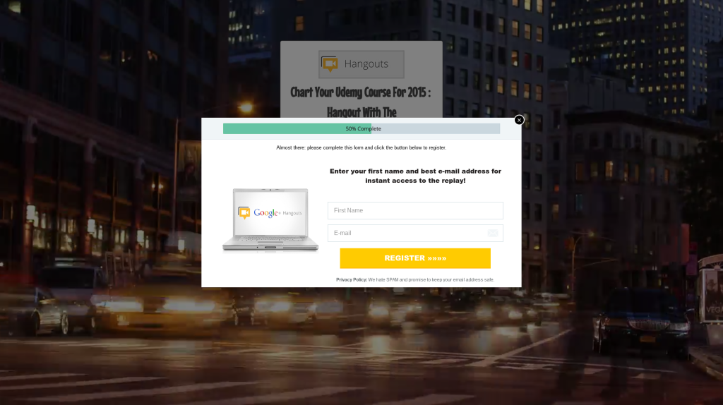 Hangout Registration Page - Created With LeadPages